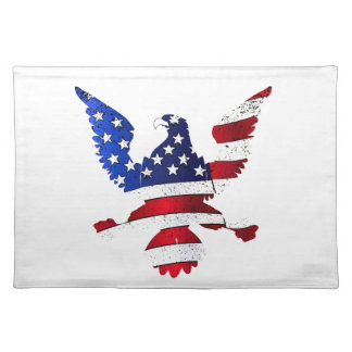 American Flag And Eagle Placemat
