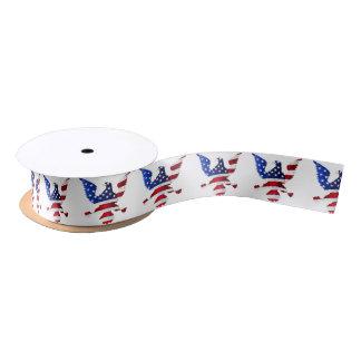 American Flag And Eagle Satin Ribbon