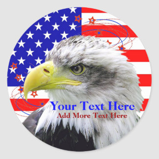 American Flag And Eagle Stickers