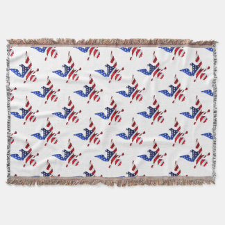 American Flag And Eagle Throw Blanket