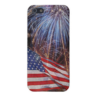 American Flag And Fireworks Design Case For iPhone 5