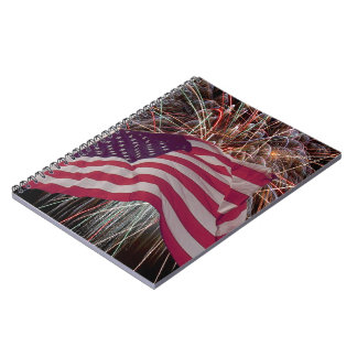 American Flag and Fireworks Journal