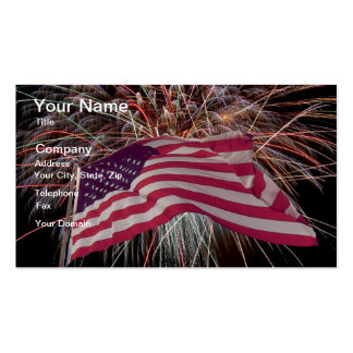American Flag and Fireworks Pack Of Standard Business Cards