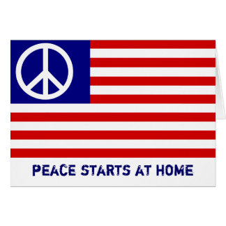 American Flag and Peace Sign Greeting Card