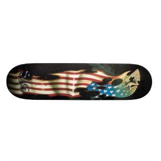 American Flag and Skull Skateboard