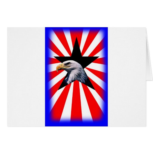 american flag and the Bald eagle Cards