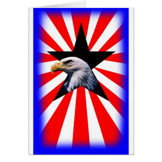 american flag and the Bald eagle Greeting Card