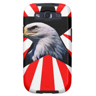 american flag and the Bald eagle Galaxy SIII Case