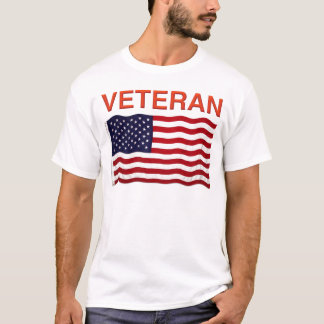 American Flag and VETERAN design on products T-Shirt