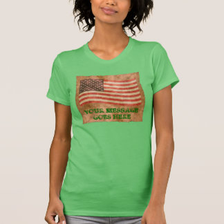 American Flag Antique Look Template T-Shirt