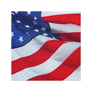 AMERICAN FLAG ART CANVAS