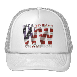 American Flag Back To Back WW Champion Hat