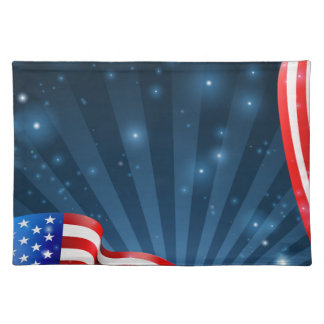 American Flag Background Design Placemat
