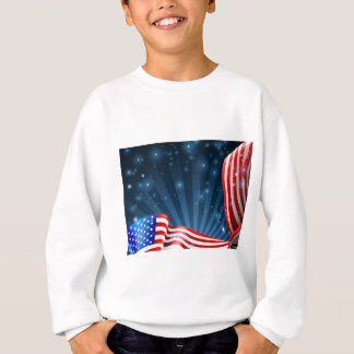 American Flag Background Design Sweatshirt