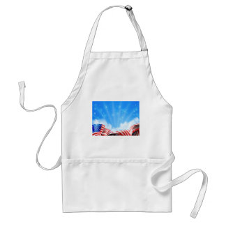 American Flag Background Standard Apron
