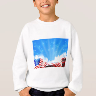 American Flag Background Sweatshirt