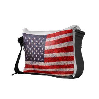 American Flag Bag Courier Bag