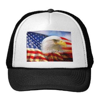 American Flag Bald Eagle Mesh Hat