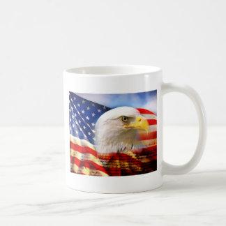 American Flag Bald Eagle Coffee Mugs