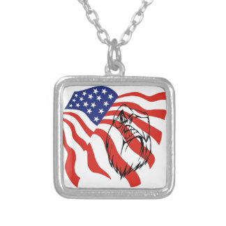 American Flag, Bald Eagle Necklace