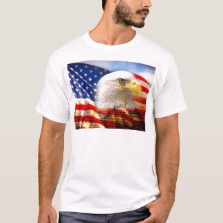 American Flag Bald Eagle T-Shirt