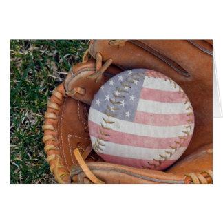 American Flag Ball Note Card