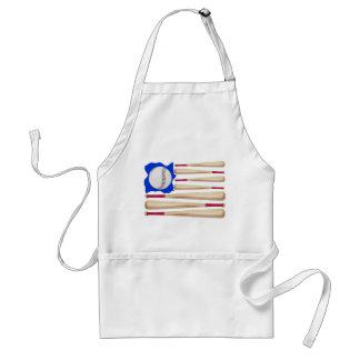 American Flag Baseball Gifts Aprons