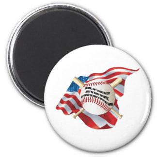 American Flag Baseball Refrigerator Magnet