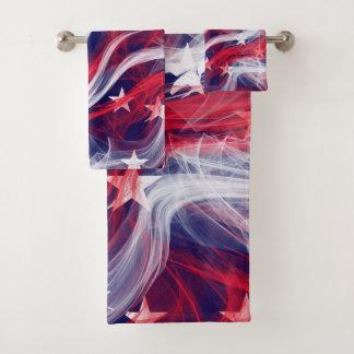 American flag Bathroom Towel Set