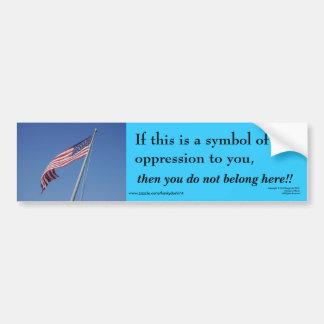 American Flag / Belong Here Bumper Sticker