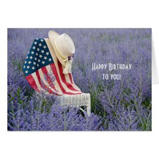 American Flag Birthday Card