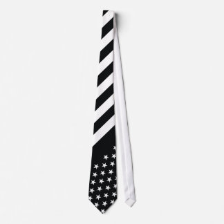 American Flag Black White Tie