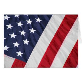 American Flag Blank Greeting Card