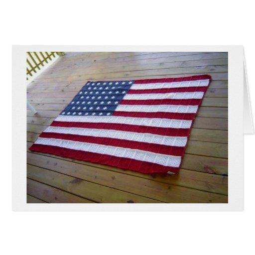 American Flag Blanket Cards