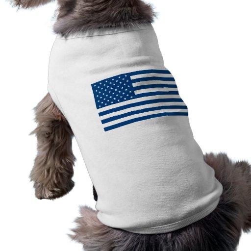 American Flag - Blue Dog T Shirt