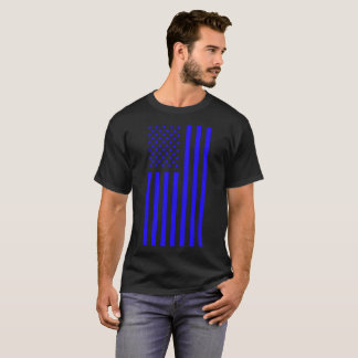 American Flag Blue T-Shirt