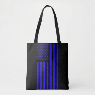 American Flag Blue Tote Bag