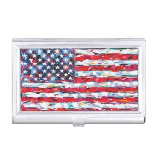 American Flag Business Card Holder