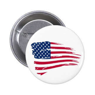 American Flag Button - Independence Day