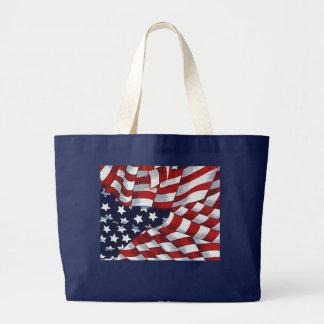 AMERICAN FLAG by SHARON SHARPE Jumbo Tote Bag