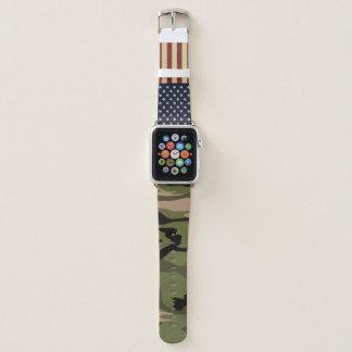 American Flag Camo Apple Watch Band