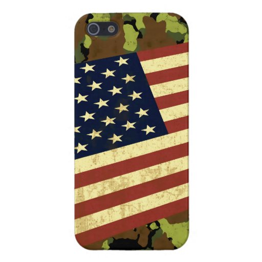 American Flag Camo Case For iPhone 5