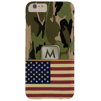 American Flag Camo MonoGram Barely There iPhone 6 Plus Case