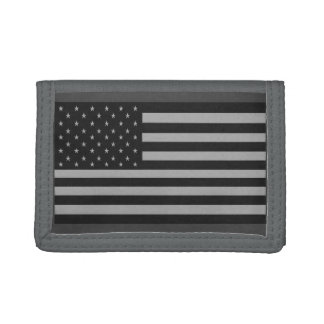 American Flag Camo Wallet Gray