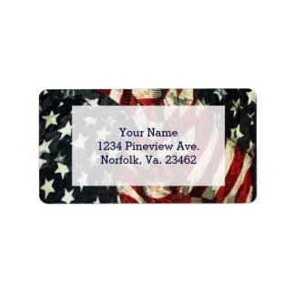 American Flag-Camouflage by Shirley Taylor Address Label
