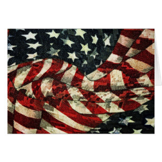 American Flag-Camouflage Greeting Card