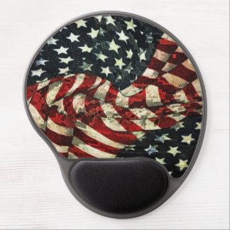 American Flag-Camouflage Gel Mouse Pad