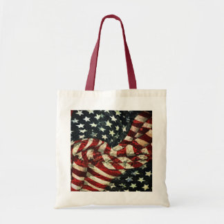 American Flag-Camouflage Budget Tote Bag