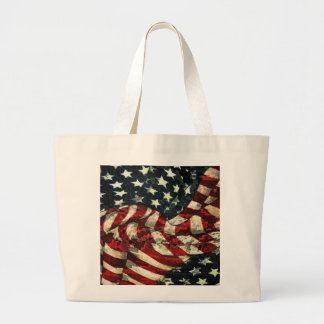 American Flag-Camouflage Jumbo Tote Bag