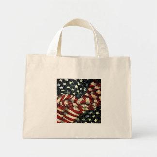 American Flag-Camouflage Mini Tote Bag